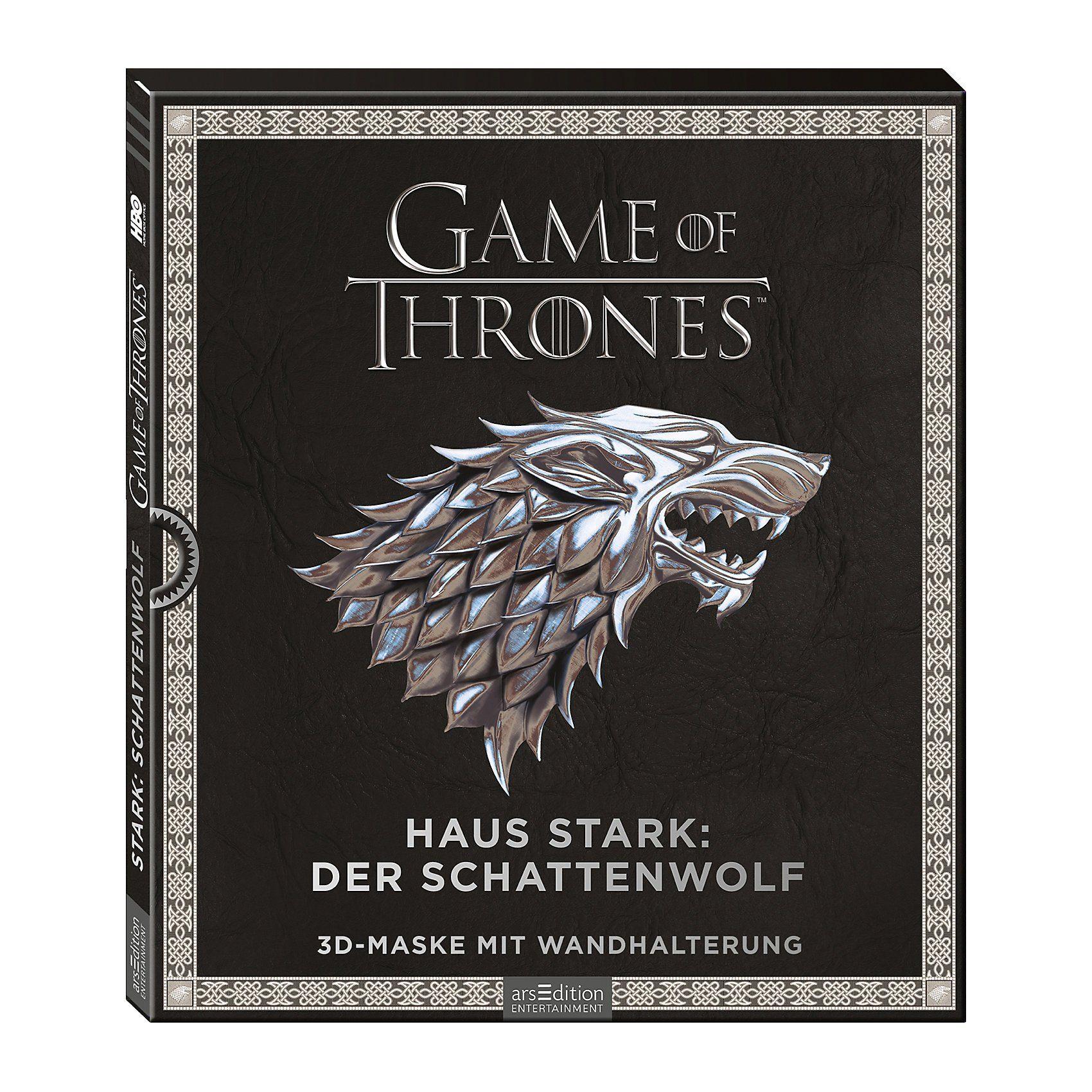 arsEdition Verlag Game of Thrones: Haus Stark: Schattenwolf, mit 3D-Maske mit