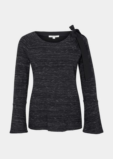 COMMA Langarmsweater mit Melangemuster