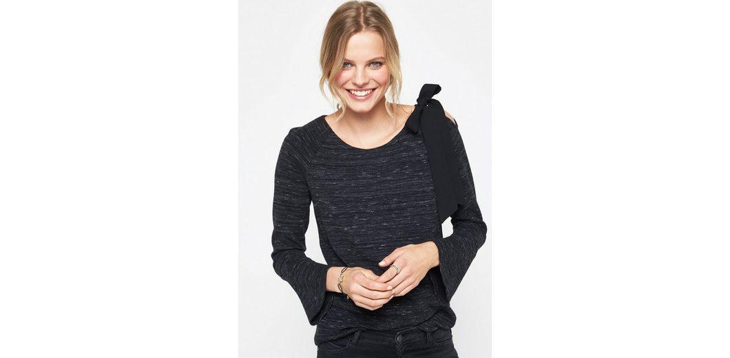 Kostengünstig COMMA Langarmsweater mit Melangemuster Günstig Kaufen Erschwinglich 7yqh0eI