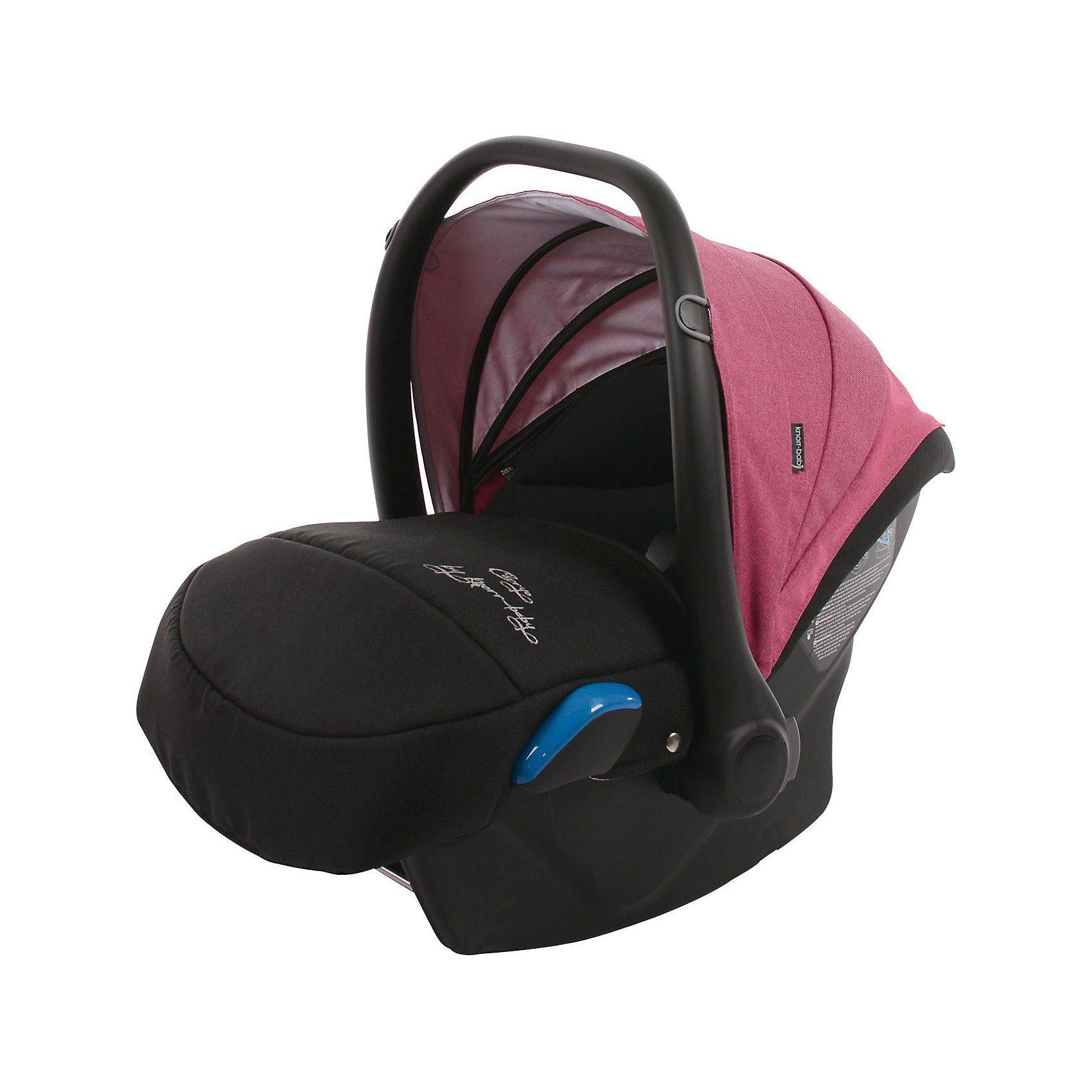 Knorrbaby Babyschale Milan für Voletto Carryo, schwarz-pink
