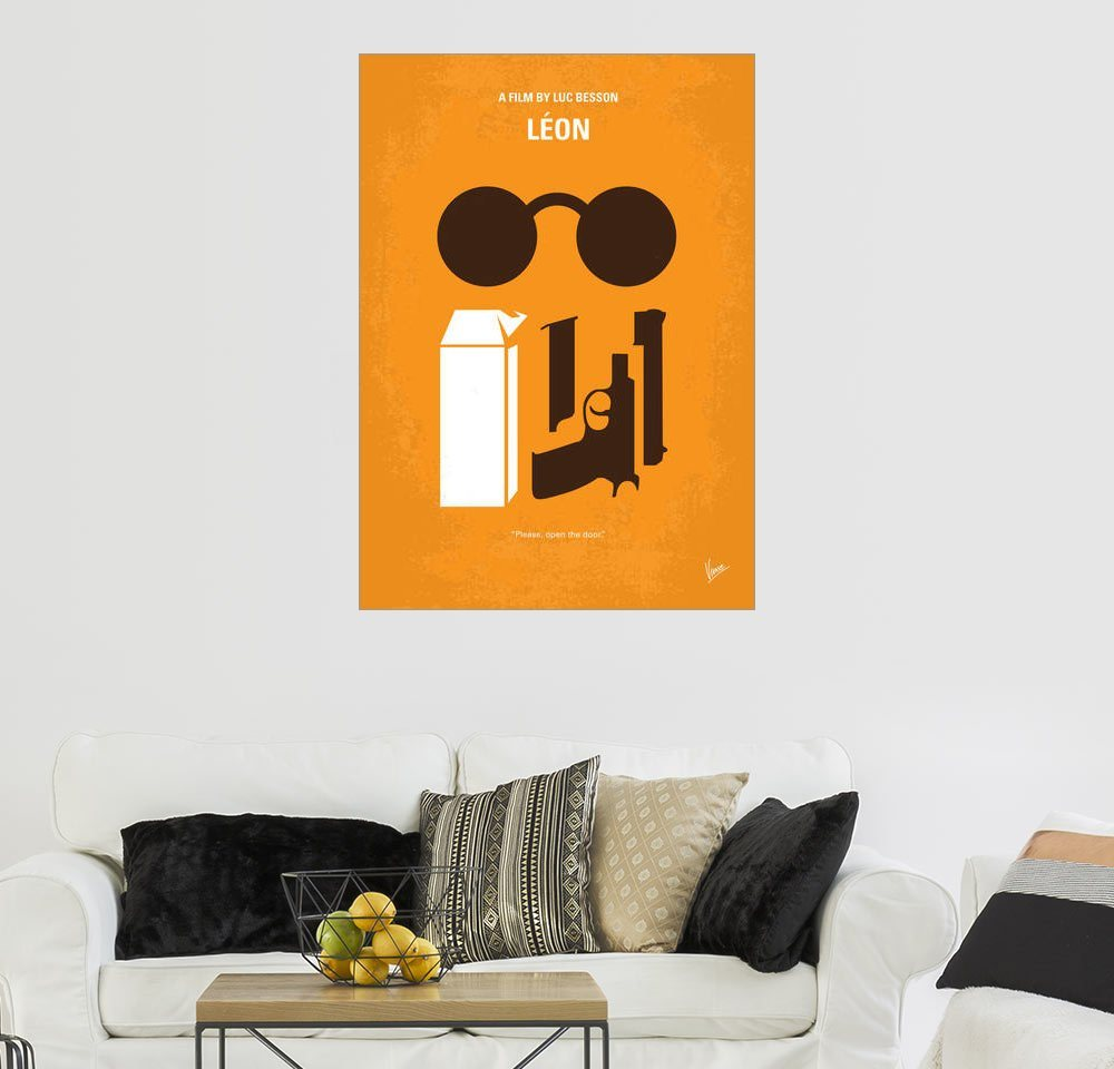 Posterlounge Wandbild   Chungkong »No239 My LEON Minimal Movie Poster«