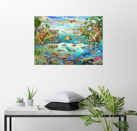 Posterlounge Wandbild - Adrian Chesterman »Prähistorisches Paradies«