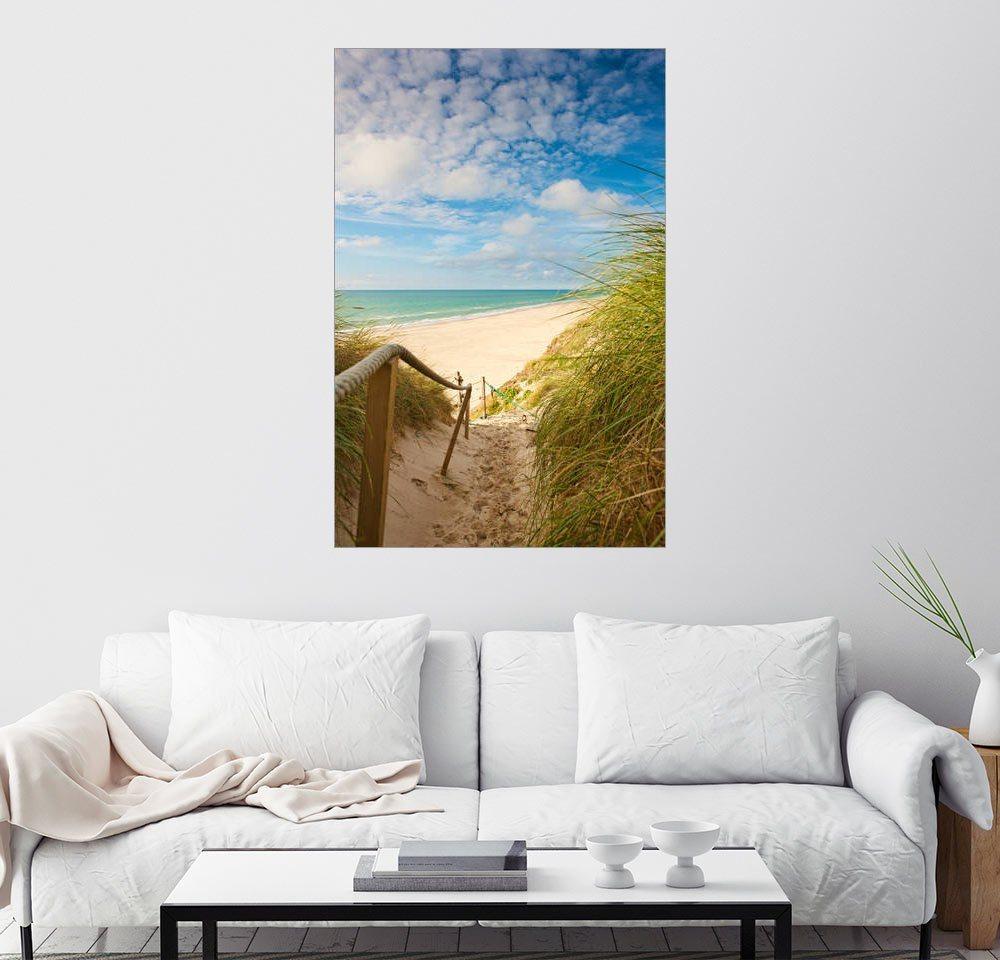 Posterlounge Wandbild »Schmaler Weg zum Strand«