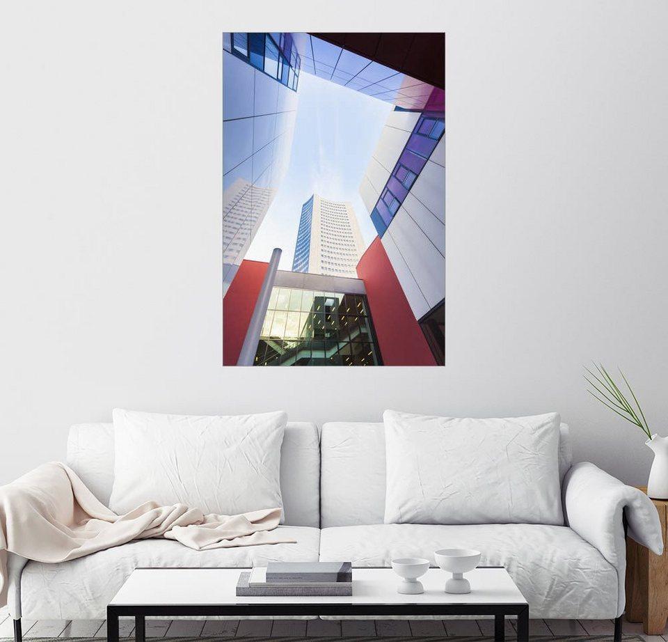 posterlounge wandbild dieterich fotografie universit t und city hochhaus in leipzig online. Black Bedroom Furniture Sets. Home Design Ideas
