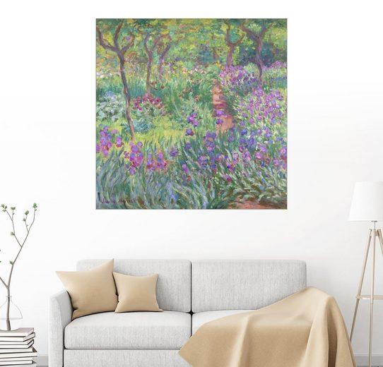 Posterlounge Wandbild - Claude Monet »Irisbeet im Garten«
