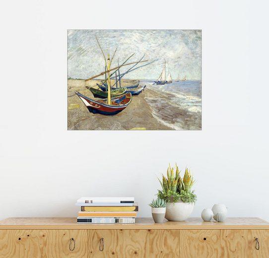 Posterlounge Wandbild - Vincent van Gogh »Fischerboote am Strand von Les Saintes-Marie-...«