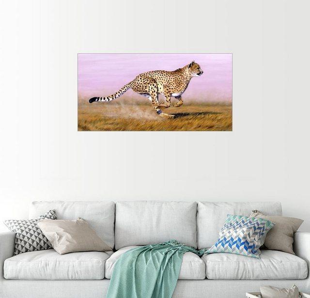Posterlounge Wandbild Jason Morgan Aktiver Leopard
