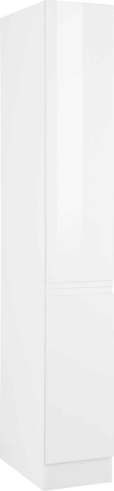 HELD MÖBEL Apothekerschrank »Virginia« 200 cm hoch 30 cm breit, 2 Auszüge mit 5 Ablagen, hochwertige MDF-Fronten, griffloses Design