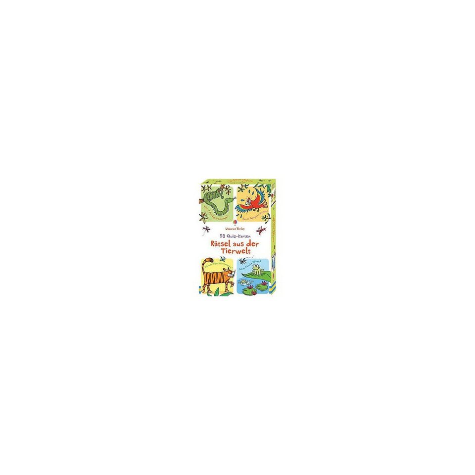 Usborne Verlag 50 Quiz-Karten: Rätsel aus der Tierwelt (Kinderspiel) online kaufen