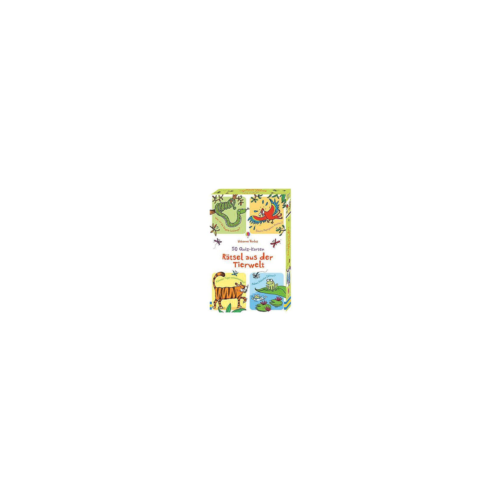 Usborne Verlag 50 Quiz-Karten: Rätsel aus der Tierwelt (Kinderspiel)
