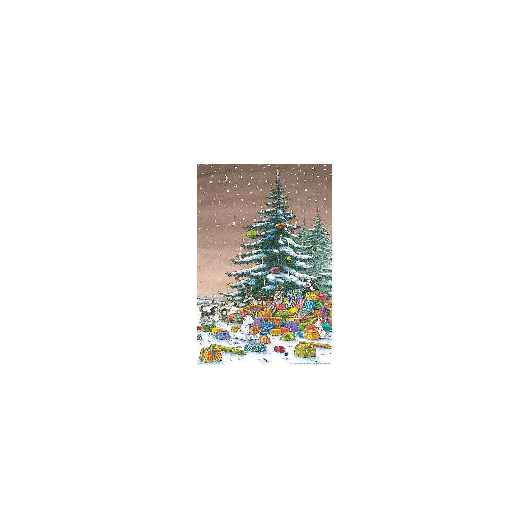 NordSüd Verlag Kleiner Eisbär unter dem Weihnachtsbaum Adventskalender