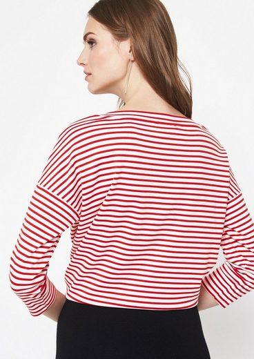 COMMA 3/4-Arm Shirt mit sportlichem Streifenmuster