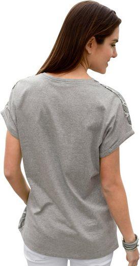Classic Basics Shirt mit gemustertem Vorderteil