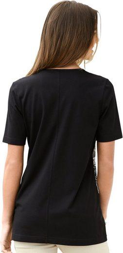 Classic Basics Shirt mit Zierriegeln im Vorderteil