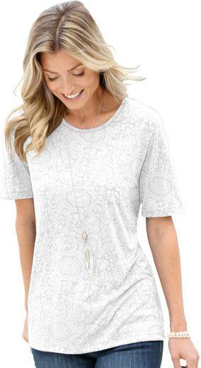Classic Basics Shirt in effektvoller, floraler Ausbrenner-Optik