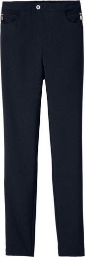 Classic Basics Hose mit Zier-Reißverschlussblende