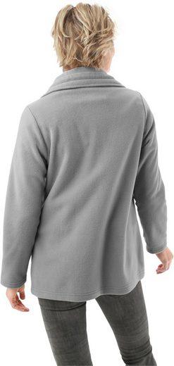 Classic Basics Fleece-Jacke mit Umlegekragen