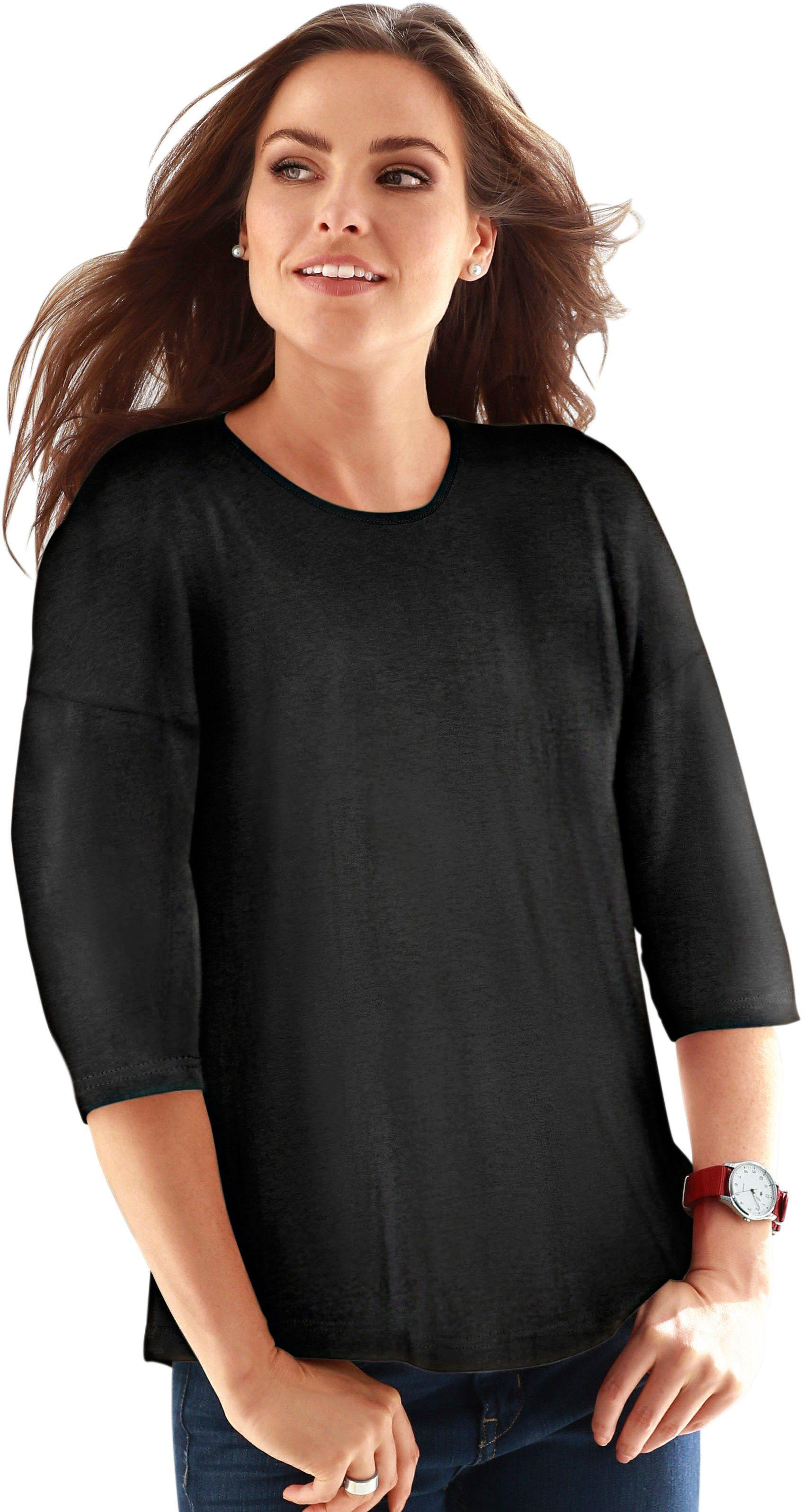 Classic Basics Überschnittenen Online Form Shirt weite Kaufen SchulternLässig Mit nk0PwXN8OZ