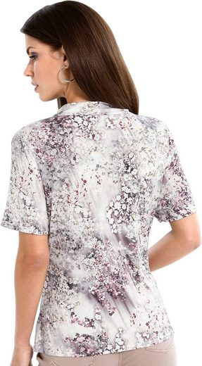Lady Shirt im Aquarellblüten-Dessin