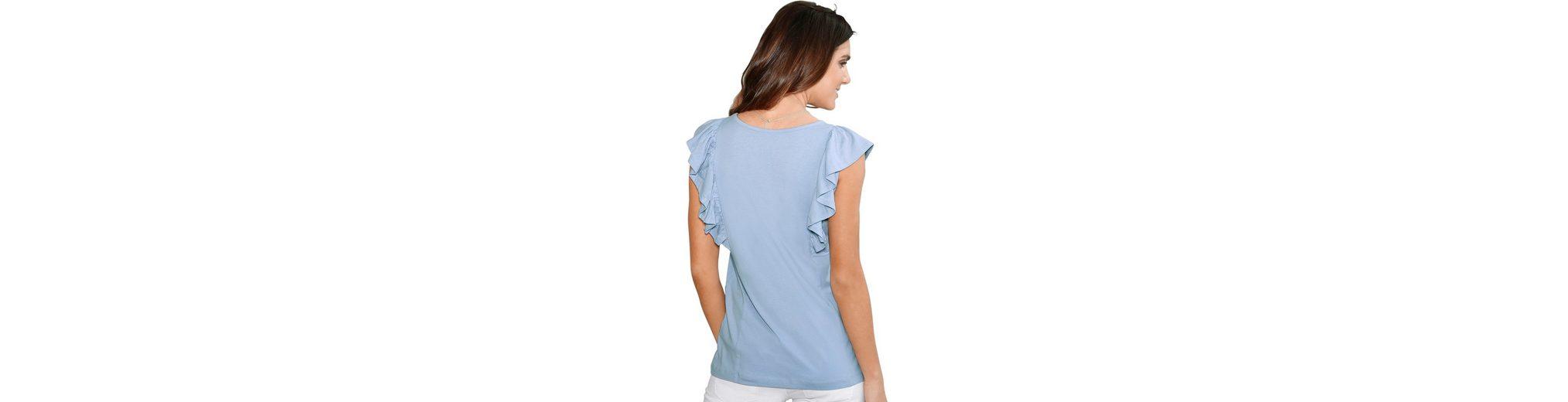 Original Günstig Online  Wie Viel Classic Basics Shirttop mit romantischen Volants Fabrikverkauf Günstige Preise Rabatt Sammlungen jnc9d