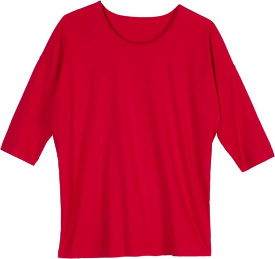 Classic Basics Shirt mit überschnittenen Schultern