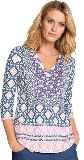 Ambria Shirt mit Mischung aus kunstvollen Druckmustern