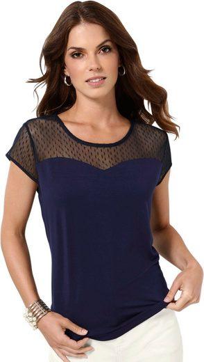 Lady Shirt mit eingewebter Pünktchen-Struktur