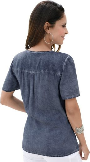 Classic Inspirationen Bluse in oil dyed-Optik