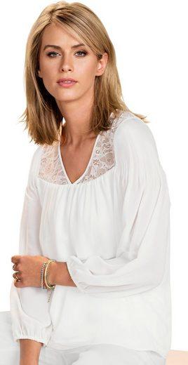Ambria Bluse mit Spitzen-Verzierung im Vorderteil