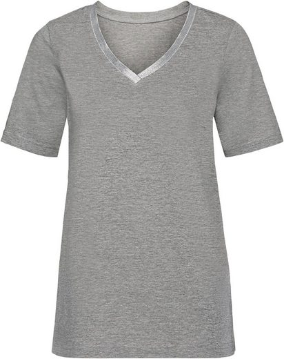 Classic Basics Shirt mit Glitzerband