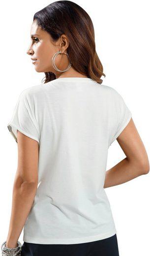 Alessa W. Shirt mit funkelnden Glitzersteinchen