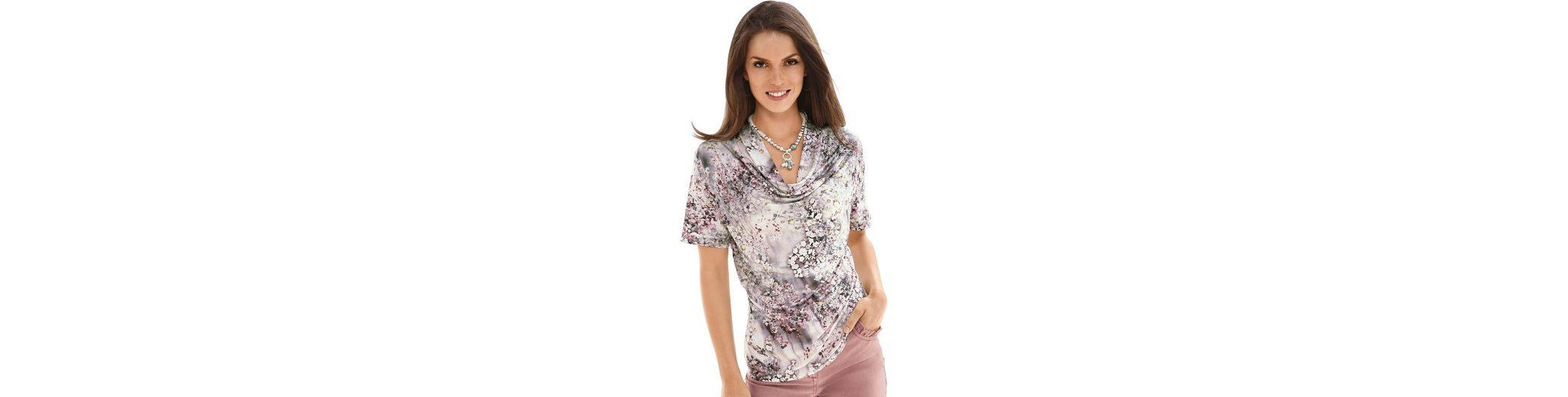 Lady Shirt im Aquarellblüten-Dessin Online-Suche Zu Verkaufen Auslassstellen Verkauf Online vc6mEsbwpy