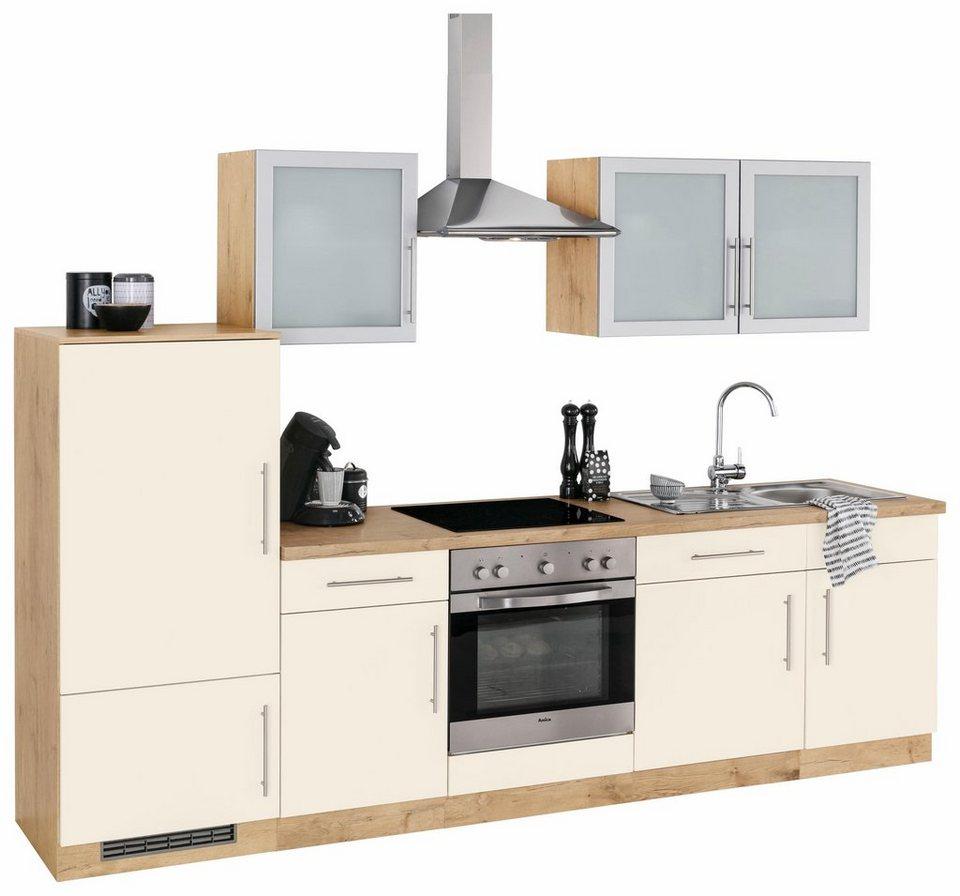 wiho k chen k chenzeile mit e ger ten aachen breite 280 cm bestehend aus 14 teilen online. Black Bedroom Furniture Sets. Home Design Ideas