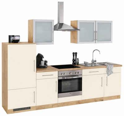 Wiho küchen küchenzeile mit e geräten aachen breite 280 cm