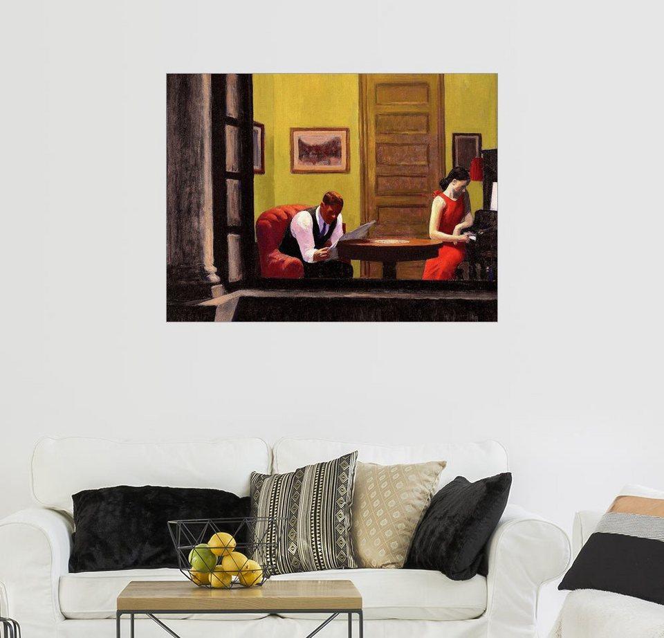 Posterlounge wandbild edward hopper zimmer in new york for New york zimmer deko
