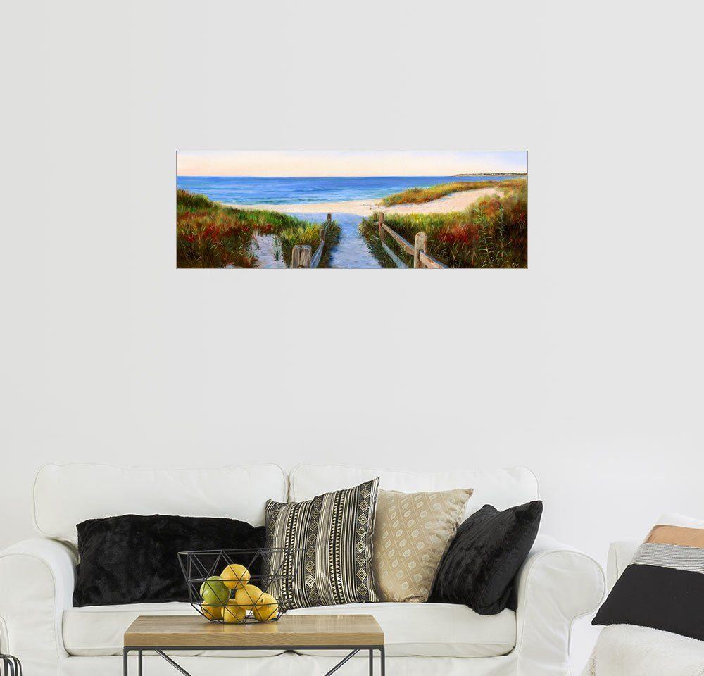 Posterlounge Wandbild - Jonathan Guy-Gladding »Weg zum Strand«