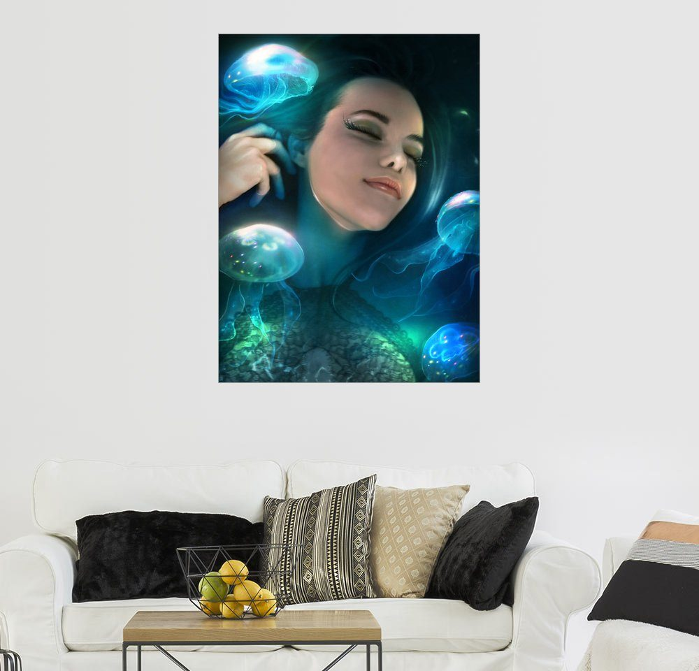 Posterlounge Wandbild - Elena Dudina »Dreaming of jellyfish«