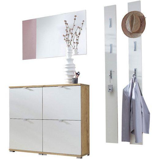 GERMANIA Garderoben-Set »Colorado«, (5-tlg), 2x Schuhschrank, Spiegel, 2x Garderobenpaneel