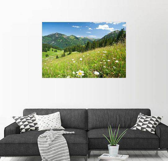 Posterlounge Wandbild - bildpics »Almwiese Allgäuer Alpen«