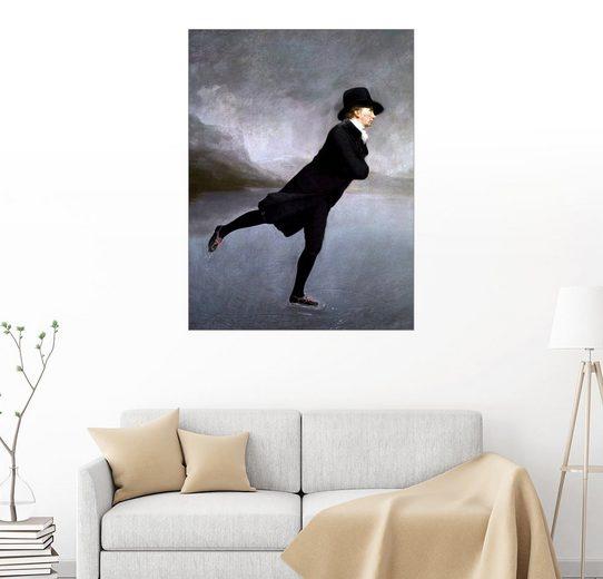 Posterlounge Wandbild - Henry Raeburn »Pfarrer Robert Walker beim Eislaufen, 1795«