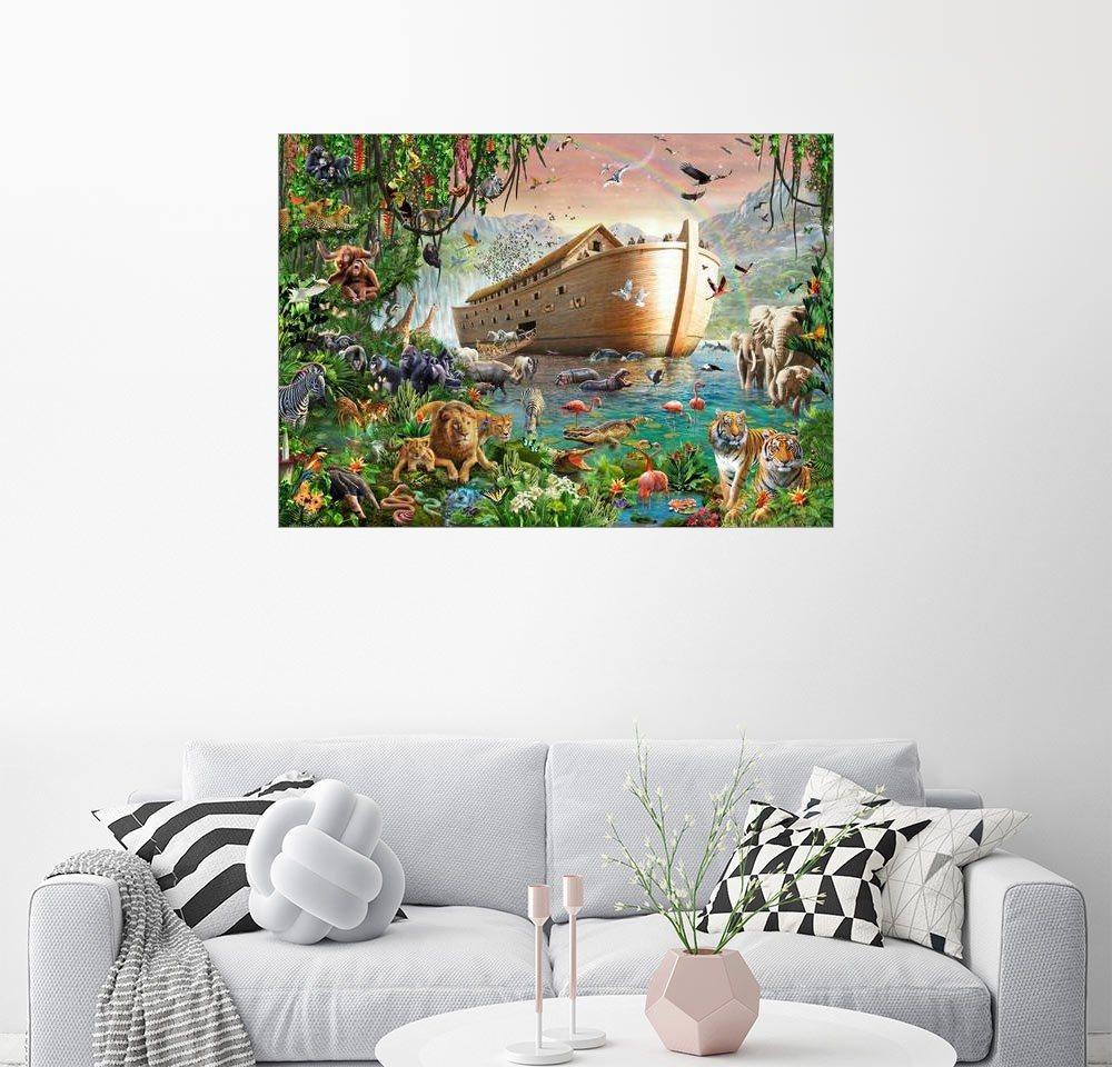Posterlounge Wandbild - Adrian Chesterman »Die Arche von Noah« | Dekoration > Bilder und Rahmen > Bilder | Holz | Posterlounge