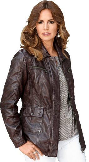 Classic Inspirations Leather Jacket In Light Used Optic