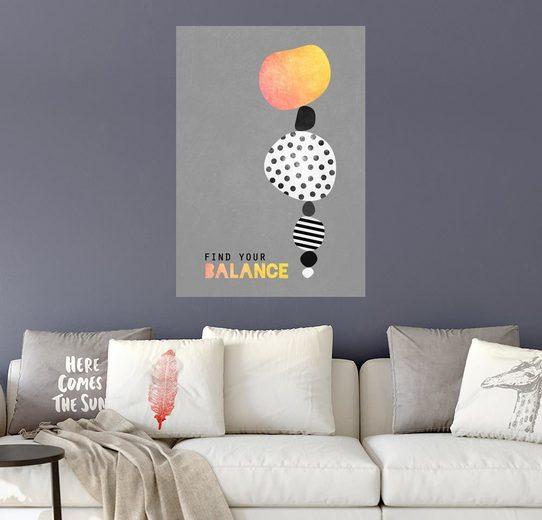 Posterlounge Wandbild - Elisabeth Fredriksson »Find your balance«