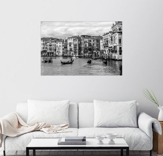 Posterlounge Wandbild - Filtergrafia »Venedig schwarzweiss«
