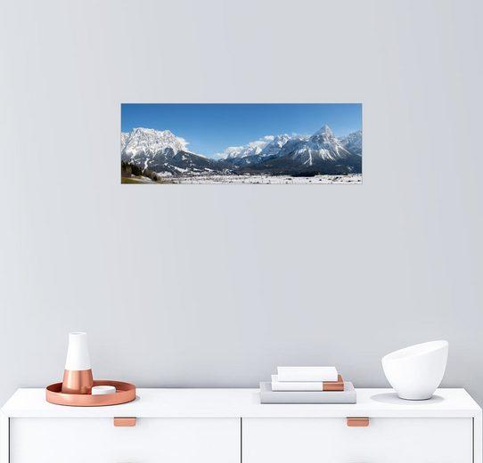 Posterlounge Wandbild - Sebastian Jakob »Zugspitze - Panorama - Winterlandschaft«