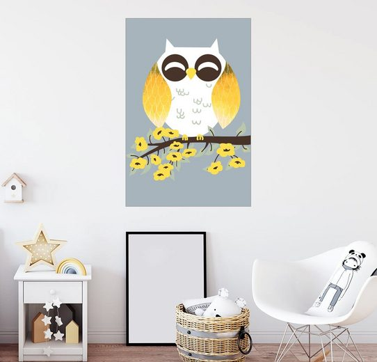 Posterlounge Wandbild - Kanzi Lue »Tierfreunde - Die Eule«
