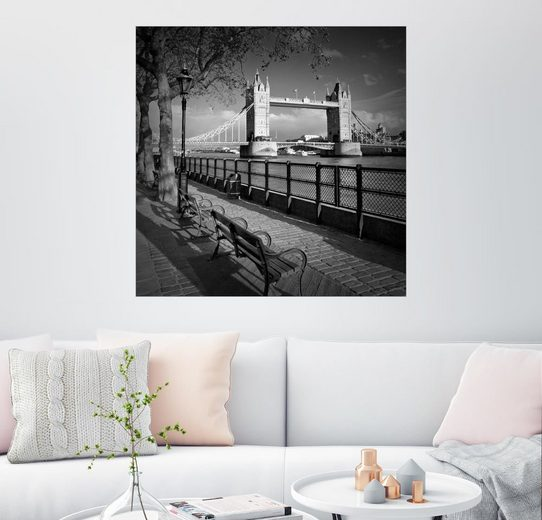Posterlounge Wandbild - Melanie Viola »LONDON Tower Bridge«
