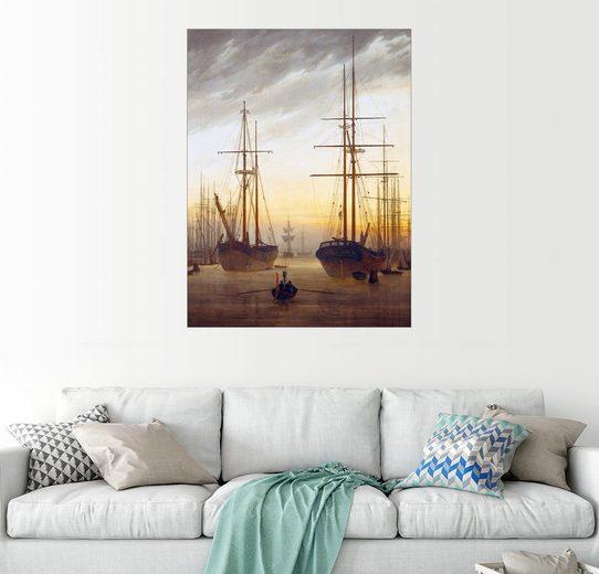 Posterlounge Wandbild - Caspar David Friedrich »Ansicht eines Hafens«