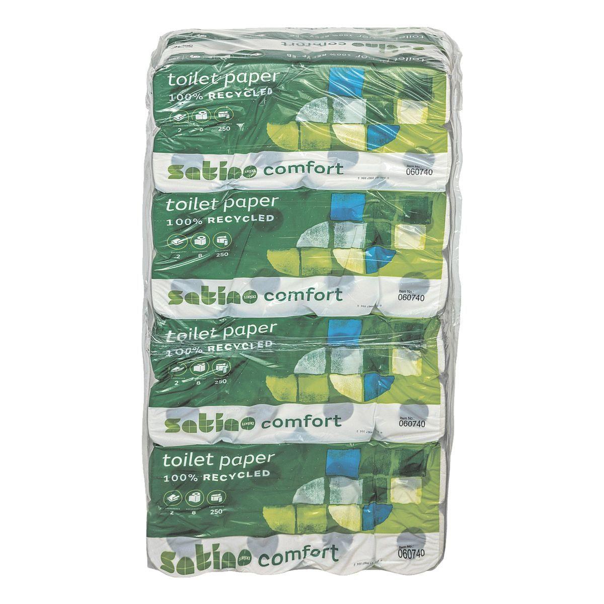 WEPACOMFORT Toilettenpapier 2-lagig - 64 Rollen