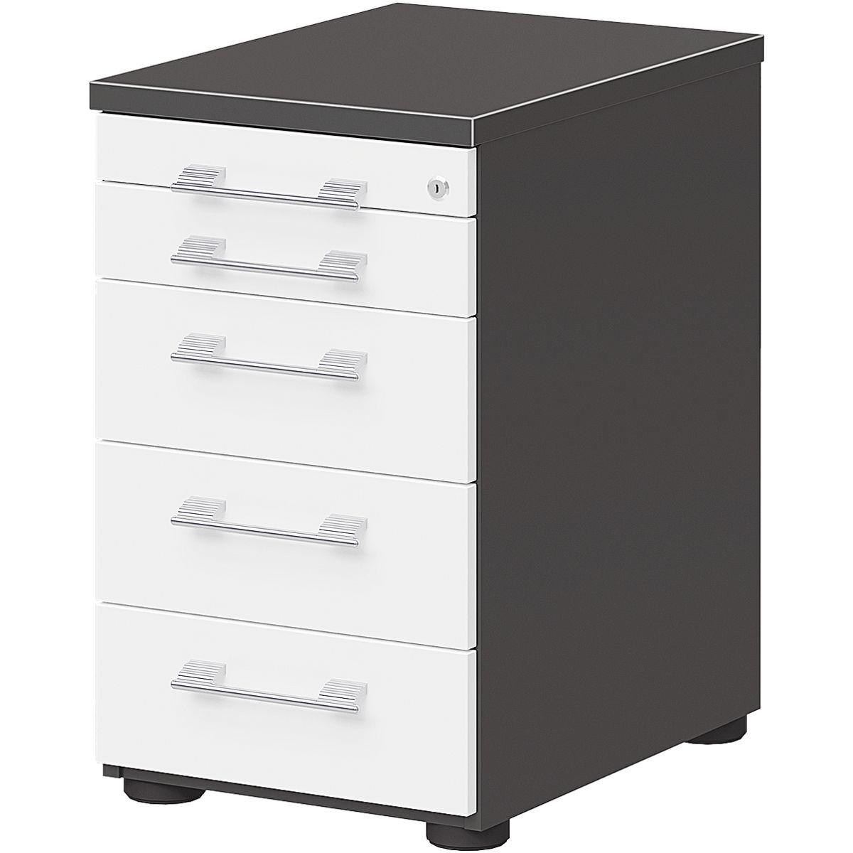 Wellemöbel Standcontainer mit klassischen Schubladen »Hyper« | Büro > Büroschränke > Container | Abs | Wellemöbel